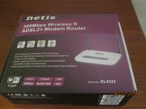 netis 300Mbps Wireless N ADSL2 + Modem Router for sale.