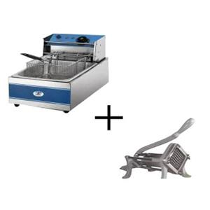 Chip Deep fryer 5 litre n Chip Cutter Combo for sale
