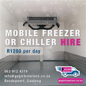 Mobile Freezer or Chiller for Hire