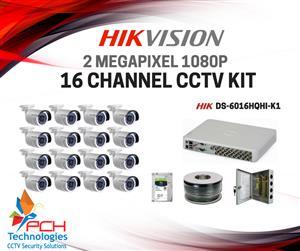 HIKVISION 16 CHANNEL CCTV (DIY) KIT