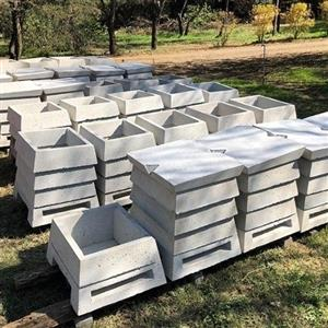 Concrete Longstroth bee hives