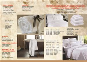 LINEN FOR HOTELS, GUEST HOUSE, BED AND BREAKFAST, ETC (HOSPITALITY)