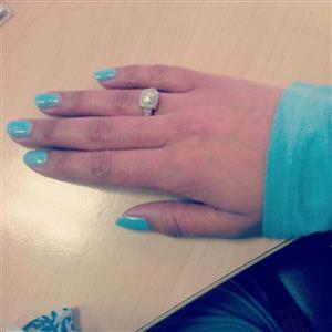 9ct White Gold, Diamond Ring