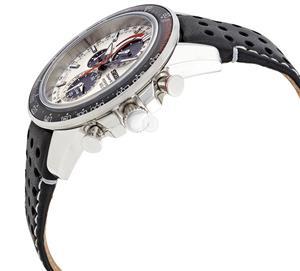 . Seiko Sportura Solar Chronograph White Dial Black Leather Men's Watch