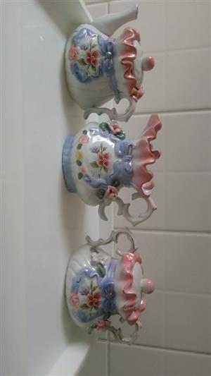 Pink tea set for sale
