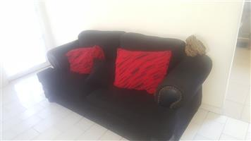 Flat Screen Tv, Lounge suit with coffee table and 6 seater dining room set