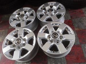 "16"" NP 300 Nissan Hardbody mag wheels and 245/70/16C Goodyear wrangler tyres"