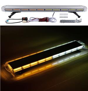 Amber and White COB LED Strobe Car Roof Top Emergency Warning Flash Light. Brand New Products.