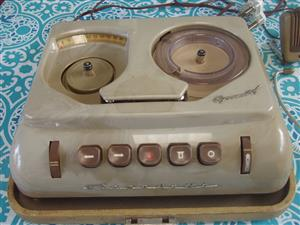 RARE Vintage GRUNDIG  Reel to Reel Player - with mike - head phones -working order