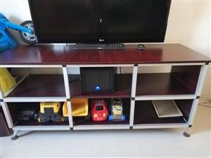 Wooden shelf tv stand