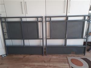 2 x Grey Headboards for sale
