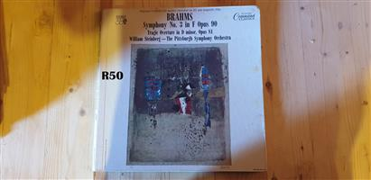 Collection of 1 LP of Symphony No3 in F Opus 90 Brahms