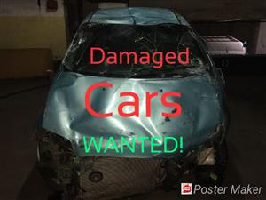 Accnident damaged vehicles wanted