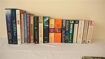 Various fictional novels for sale