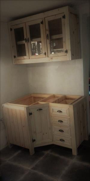 Kitchen Cupboard Farmhouse series 1300 Combo 1 Raw