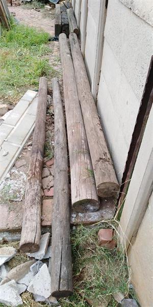 Wooden logs for sale
