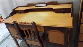 Study Table - Yellow & Imbuia Wood