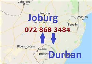 Johannesburg to Durban 0728683484