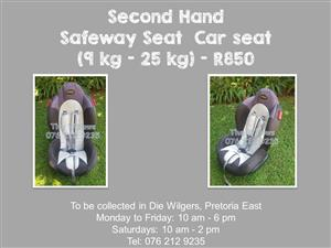 Second Hand Safeway Seat Car seat (9 kg - 25 kg) - White
