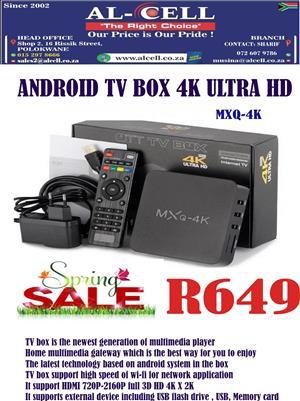 4K ULTRA HD ANDROID TV BOX MXQ-4K