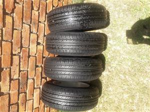 Four 4 Tyres and Rims for Sale