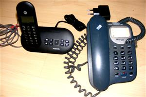 Hands free telephone and answering machine