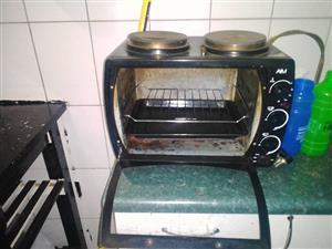 2 plate stove and oven/grill