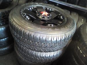 17 inch  Rockstar set of x4 rims   6x139 pcd  to fit on most  bakkies and SUV with good used tyres for R8700.