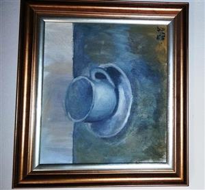 original still life, acrylic painting - coffee break