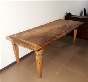 Rhodesian Teak Farmhouse Dining Table for Sale