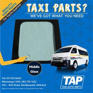 MIDDLE GLASS for Toyota Quantum - Taxi Auto Parts quality used spares - TAP