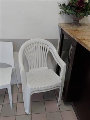 White plastic waiting chairs for sale