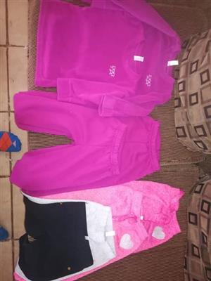 Pink sweaters and pants for sale