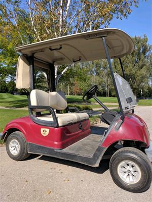 3 Red Golf Cart