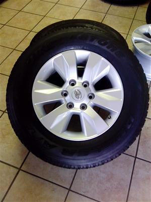 Toyota Hilux 17 inch with 265/65/17 Goodyear wrangler R9500 X4.