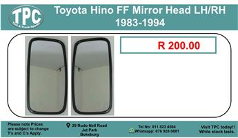 Toyota Hino FF Mirror Head LH/RH 1983-1994 For Sale.