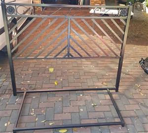 Wrought iron double bed headboard