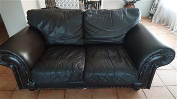 2 x leather couches