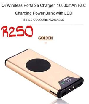 Golden portable charger for sale