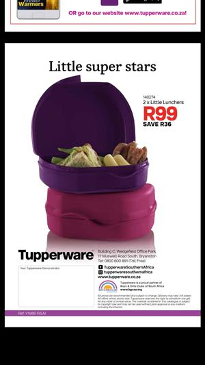 Start living your legacy with Tupperware