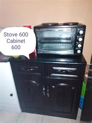 Stove and cabinet for sale