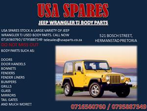 JEEP WRANGLER TJ USED BODY SPARES FOR SALE