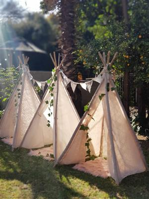 Lace Teepee Tents for hire