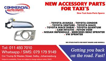 Accessory Parts and Spares For Taxis For Sale.