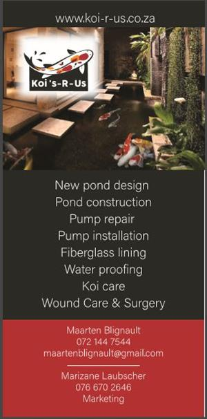 Koi pond and Fish Care
