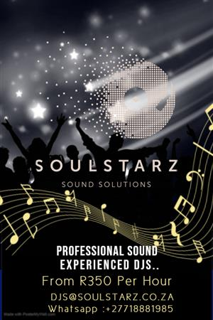 Professional Sound and DJ service from R350 per hour