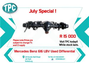 Mercedes Benz 616 LBV Used Differential for Sale at TPC