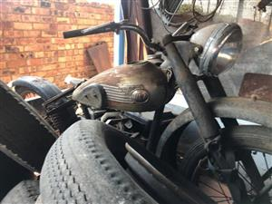 For Sale: Late 40's BSA 250 Motorcycle
