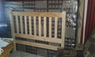 Raw Pine Double Bed 4 Sale:  R1 500-00 {3 months old]