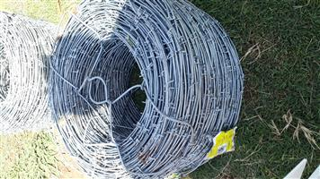 Heavey duty galvanised barb wire for sale